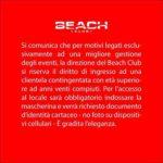 Comunicato Beach Club Versilia 23 Luglio 2020